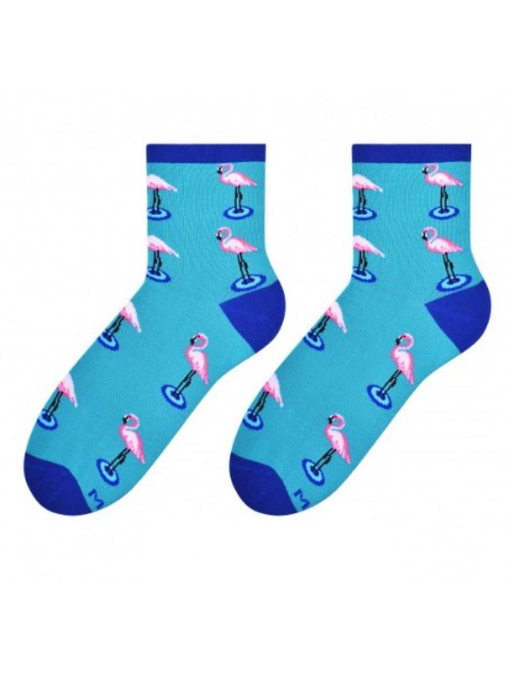 Dámske ponožky More Plameniak Modré