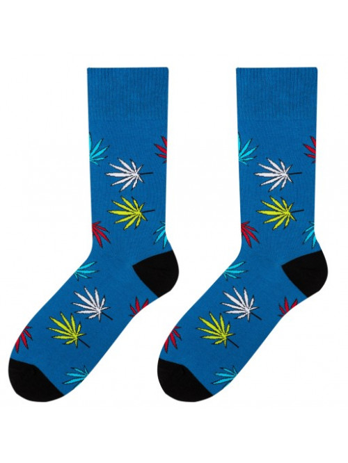 Ponožky More Marihuana modré