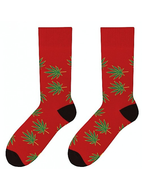 Ponožky More Marihuana červené