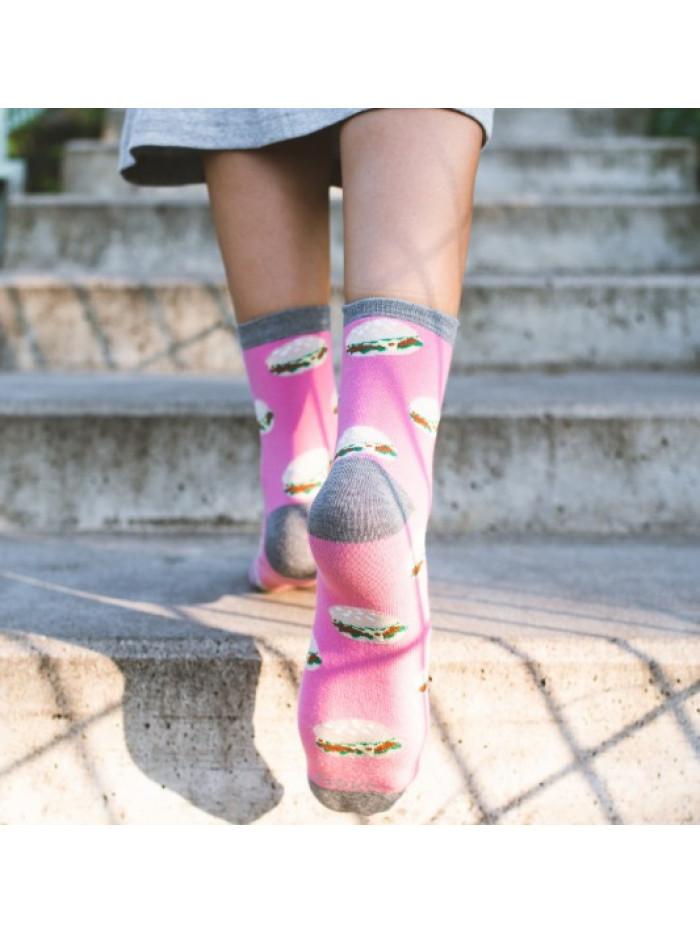 Ponožky More Burgers Pink