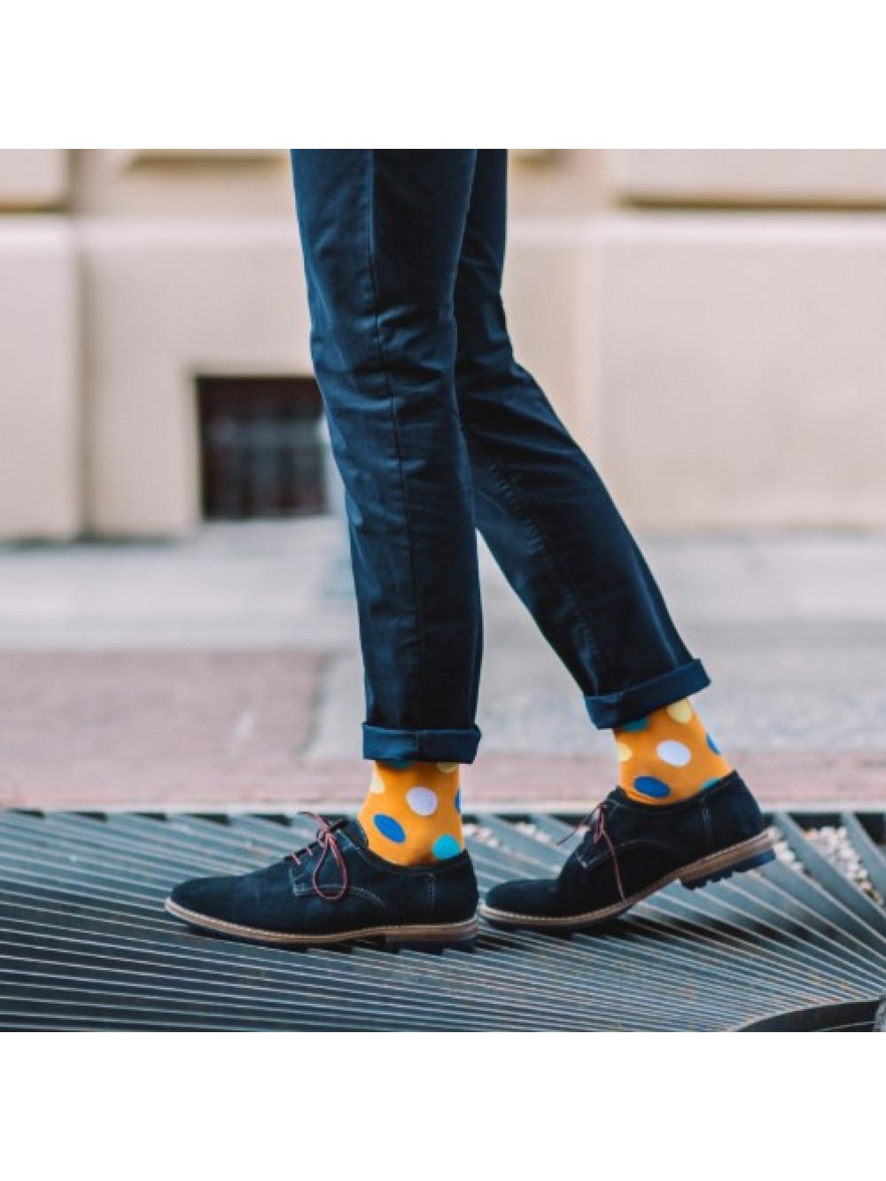 aff4ede6ecf Ponožky More oranžové s veľkými farebnými bodkami