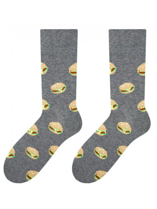 Ponožky More Burgers Man Grey