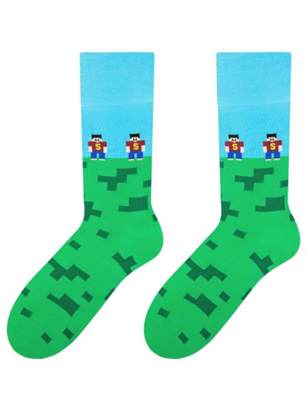 Ponožky More Pixels Green
