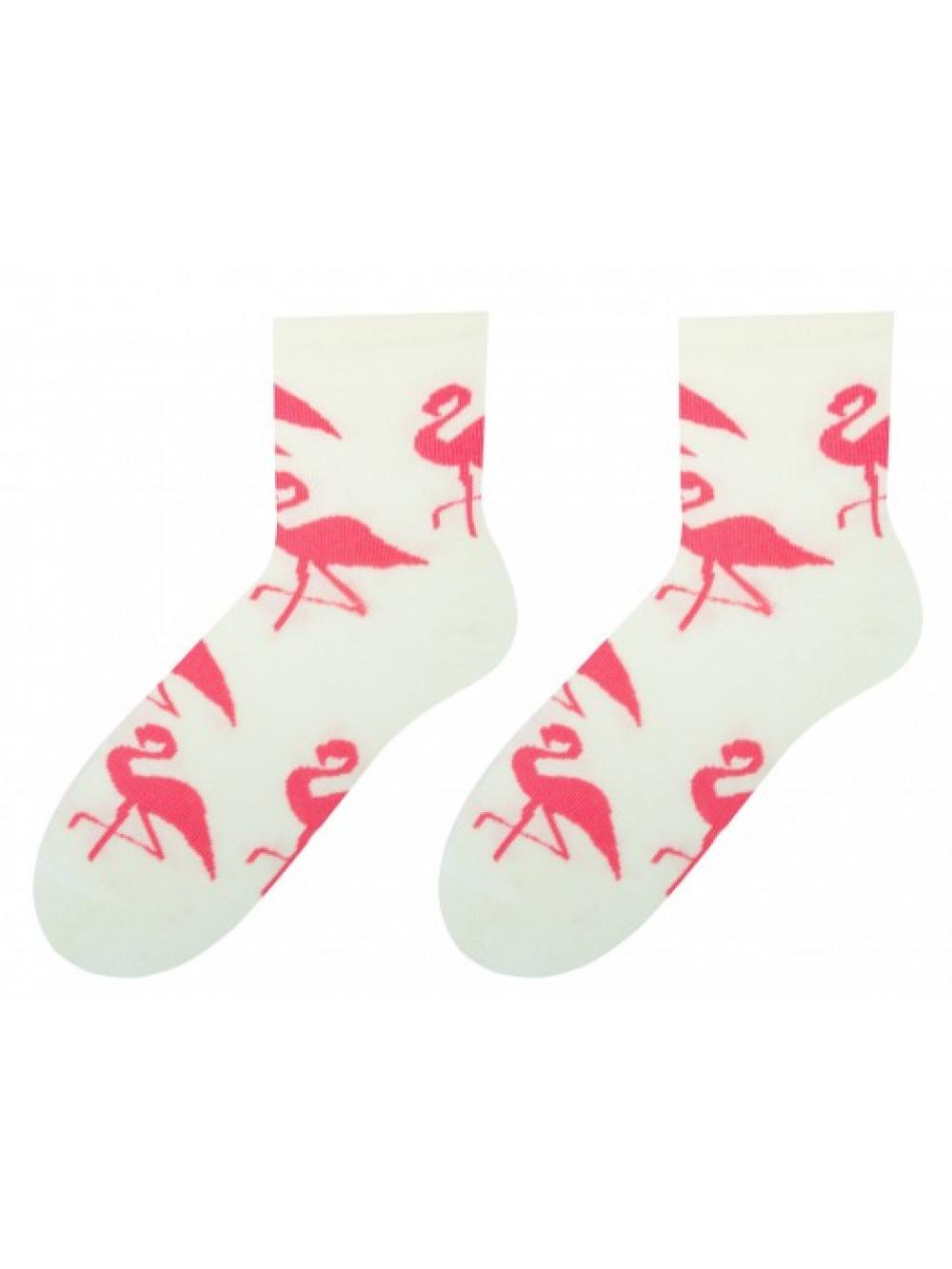 Dámske ponožky More Plameniak Smotanové