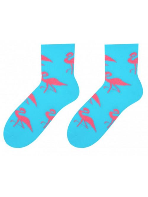 Dámske ponožky More Plameniak Tyrkys