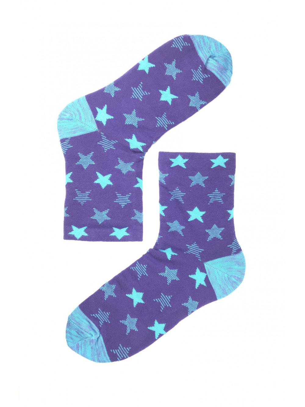Ponožky Steven Stars fialovo - modré