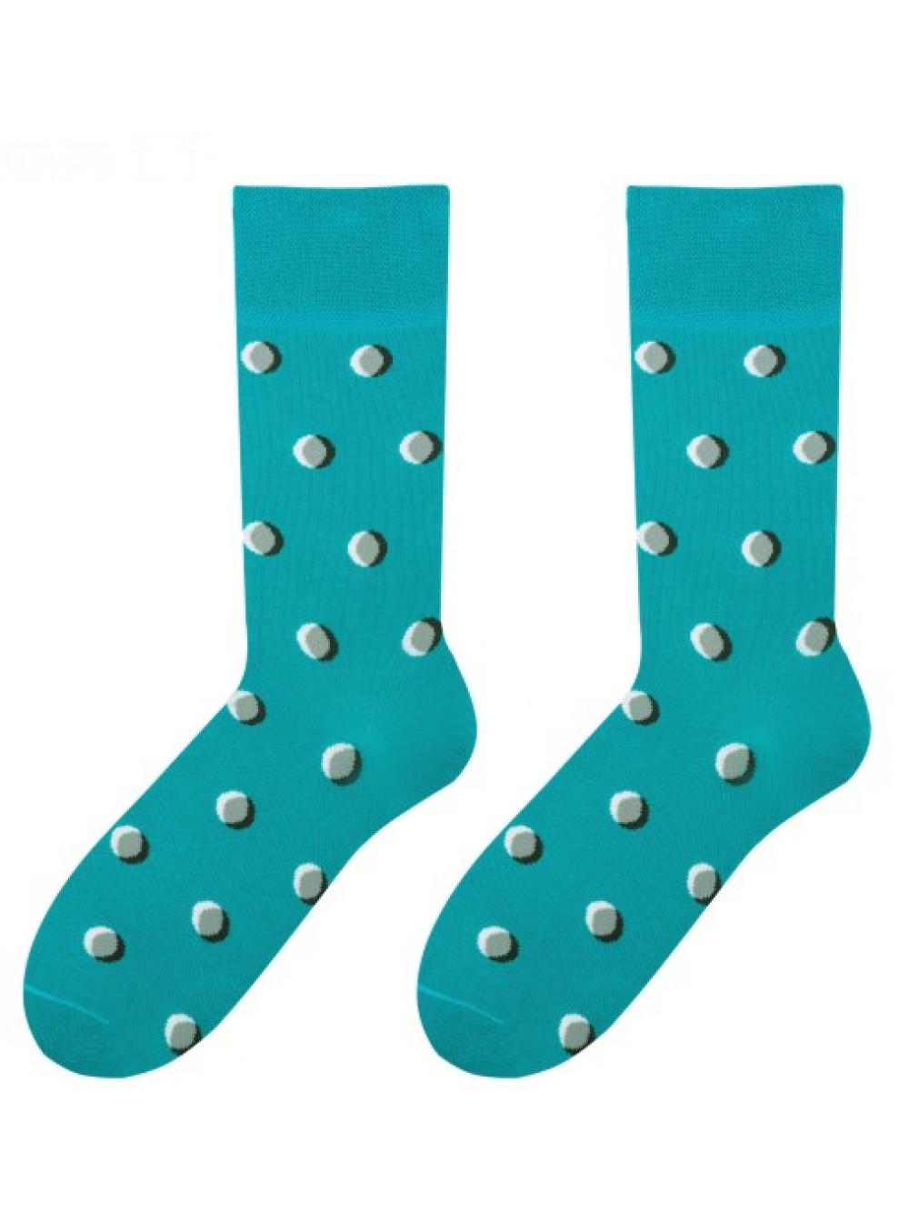 Ponožky More Tyrkys bodkované