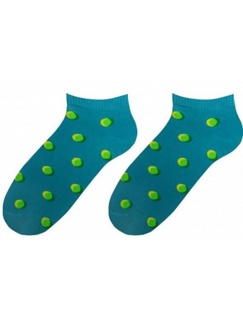 Ponožky More Dots tyrkys členkové