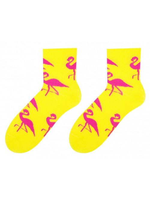 Dámske ponožky More Plameniak žlté