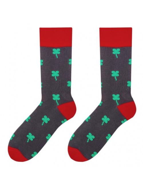Ponožky More Štvorlístok Sivé