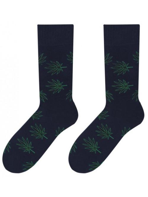 Ponožky More Marihuana tmavo modré