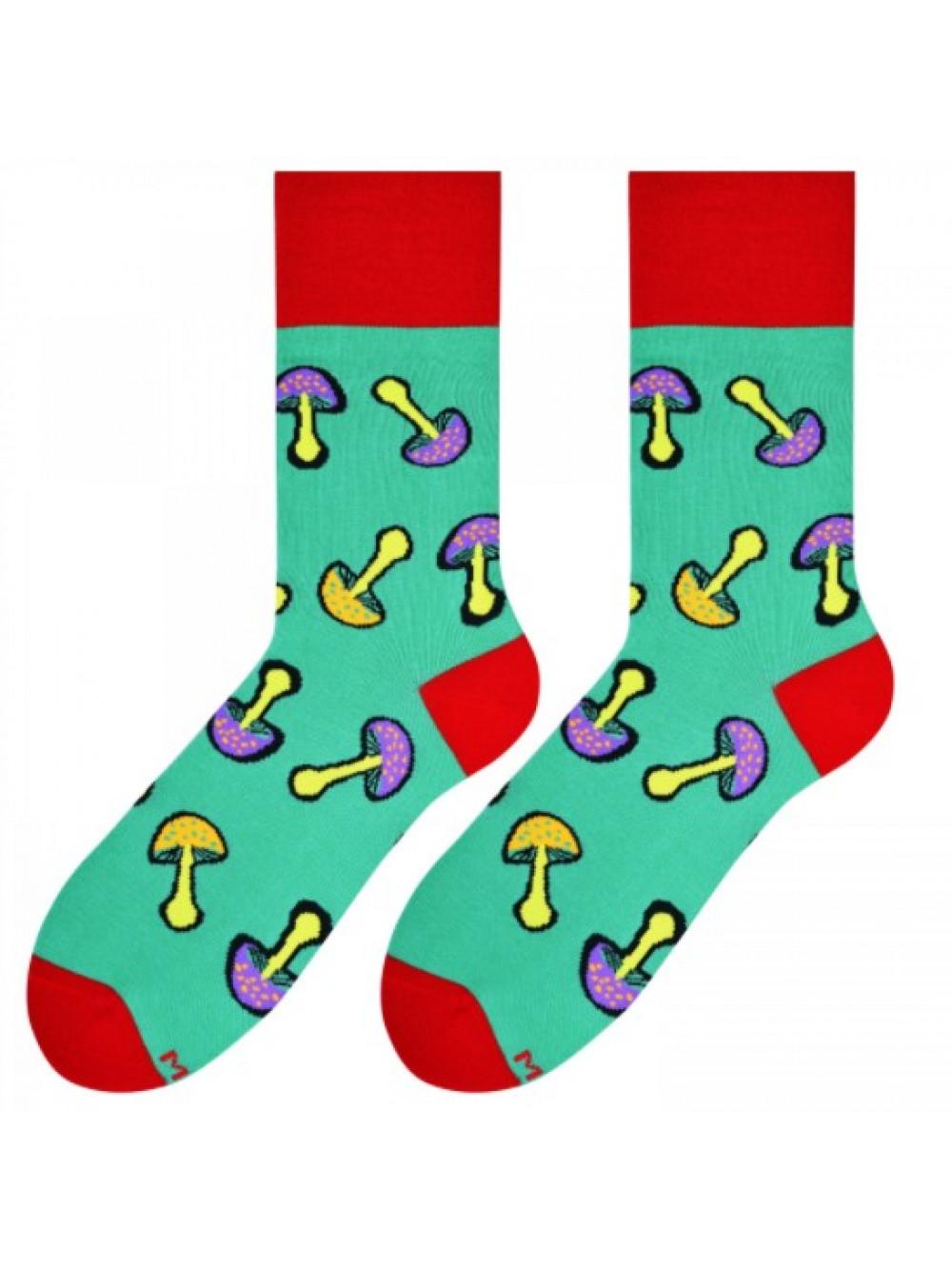 Ponožky More Green Mushrooms