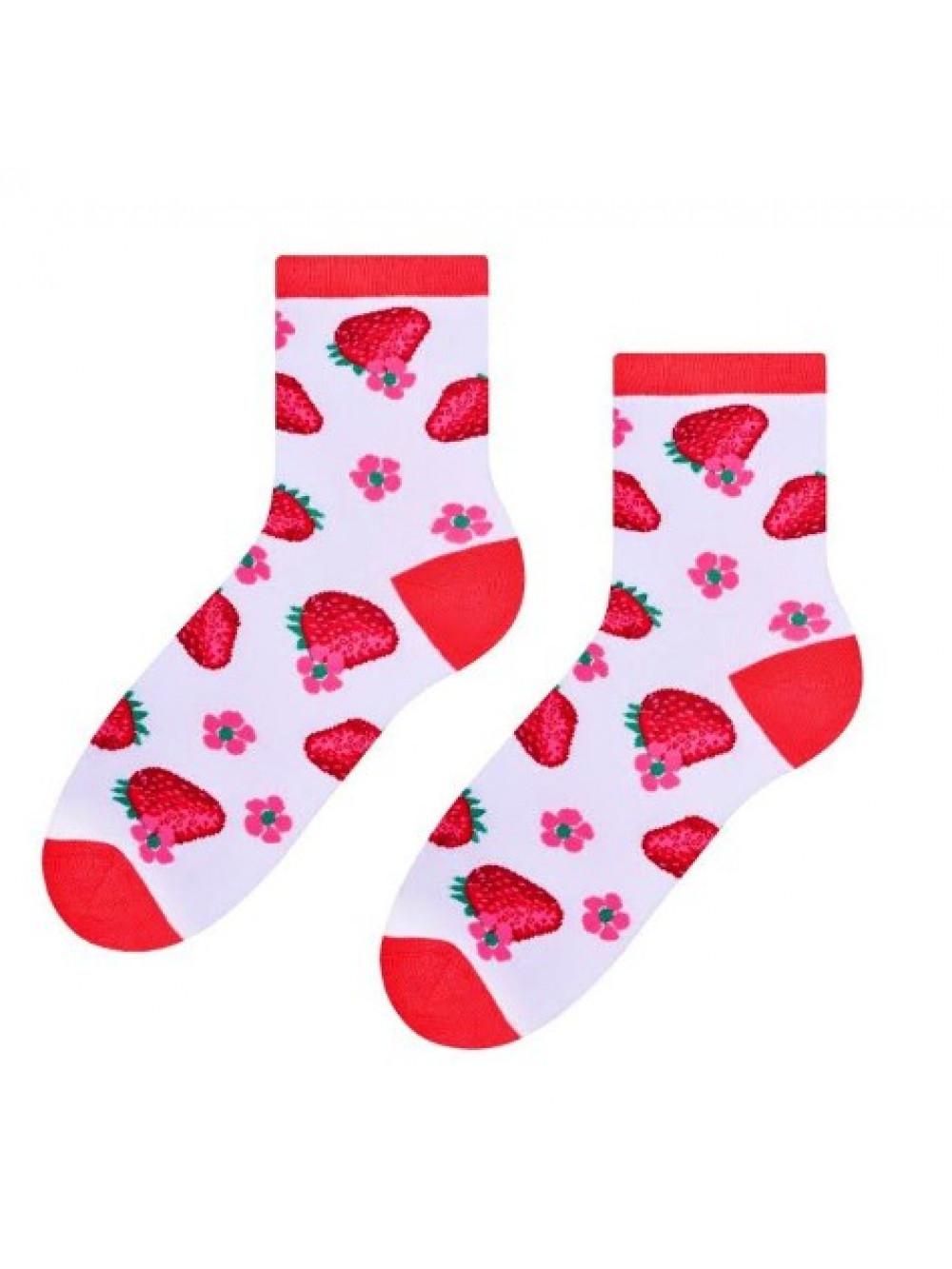 Ponožky Steven Jahoda Biele