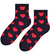 Ponožky Steven Big Hearts black
