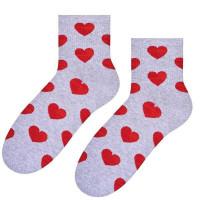 Ponožky Steven Big Hearts grey