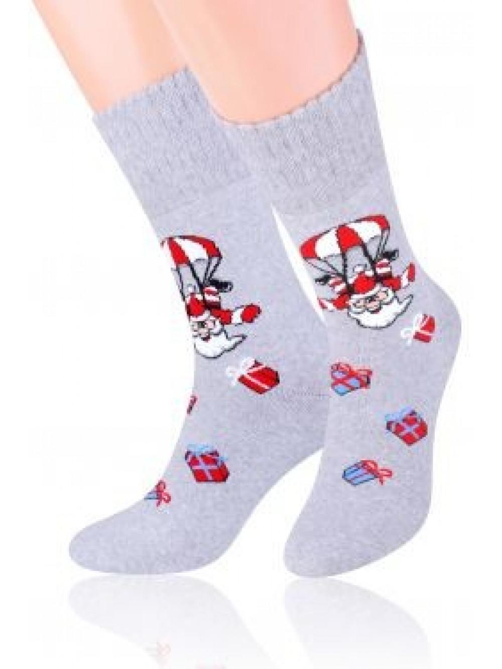 Vianočné ponožky Steven Crazy Santa Grey