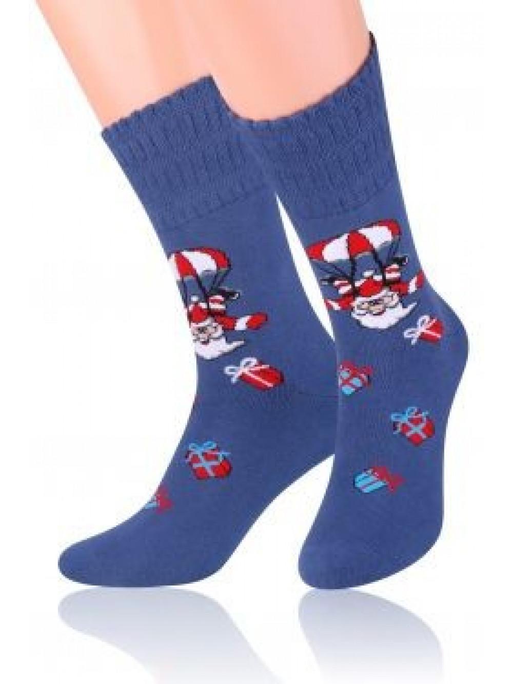 Vianočné ponožky Steven Crazy Santa Blue