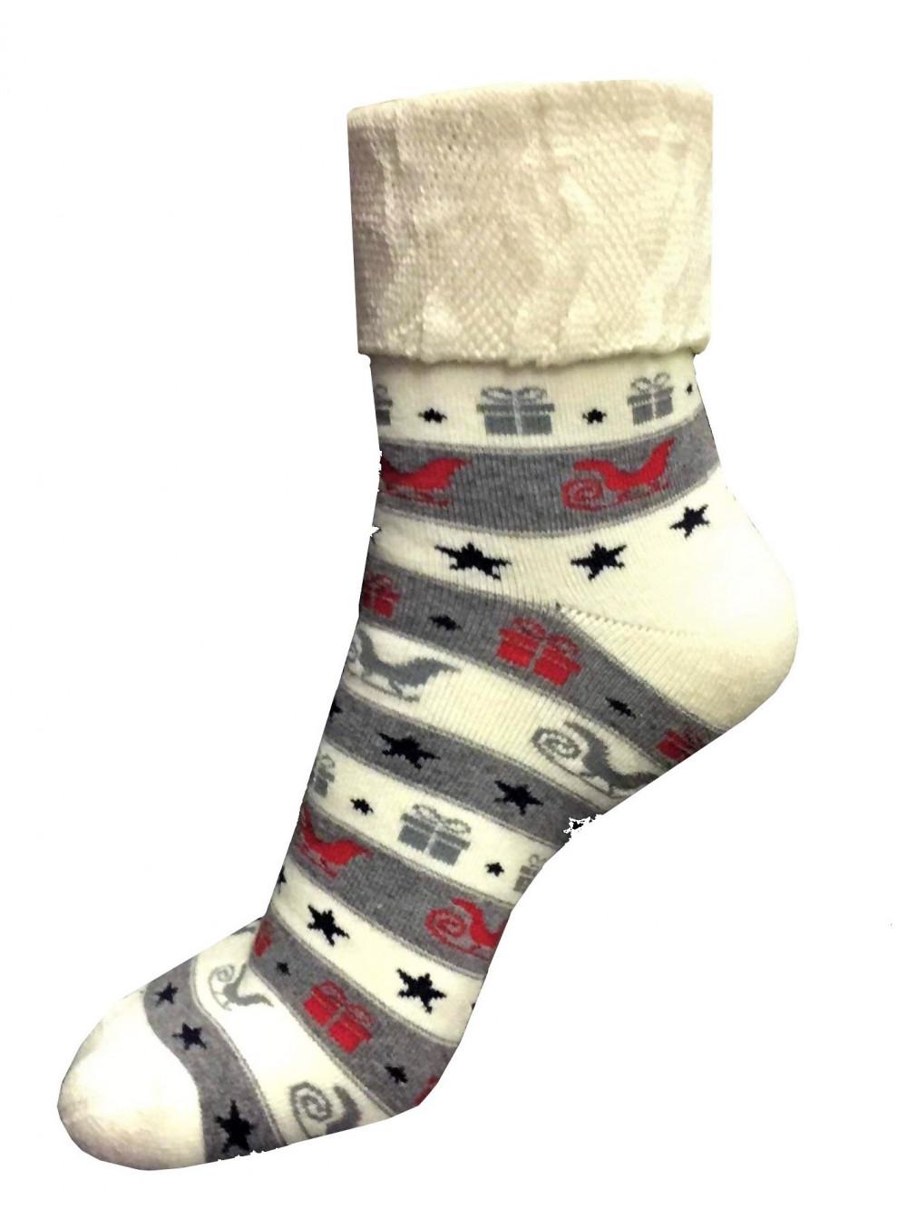 Vianočné ponožky Steven Gifts Beige