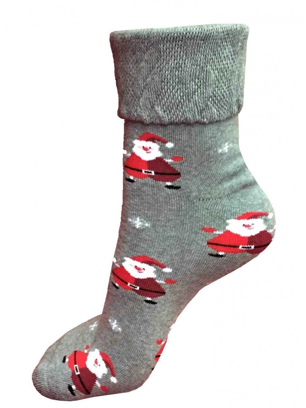 Vianočné ponožky Steven Mikuláš Sivé
