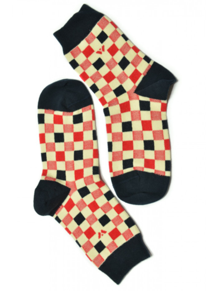 Ponožky Walker's Retro červeno-biele