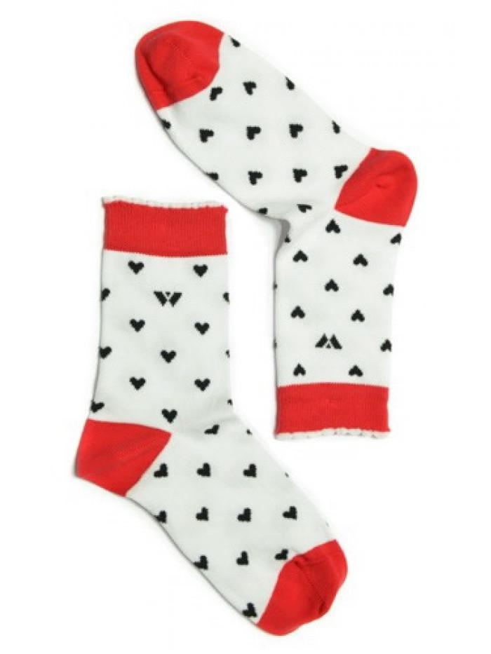 Ponožky Walker's Love bielo-červené