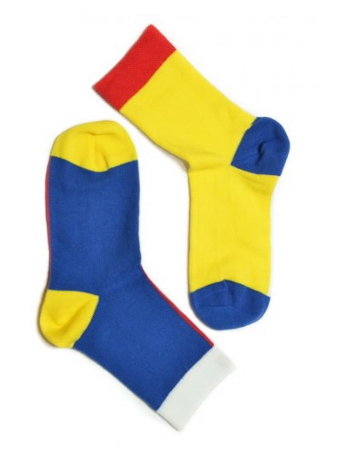 Ponožky Walker's Color Block žlto-modré