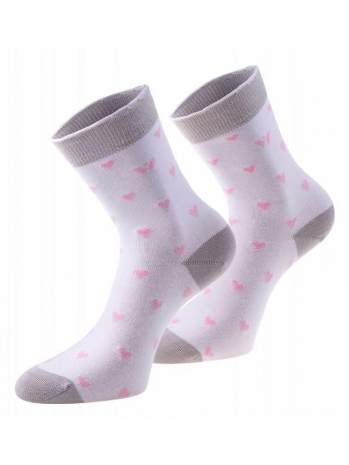 Ponožky Walker's Love bielo-sivé