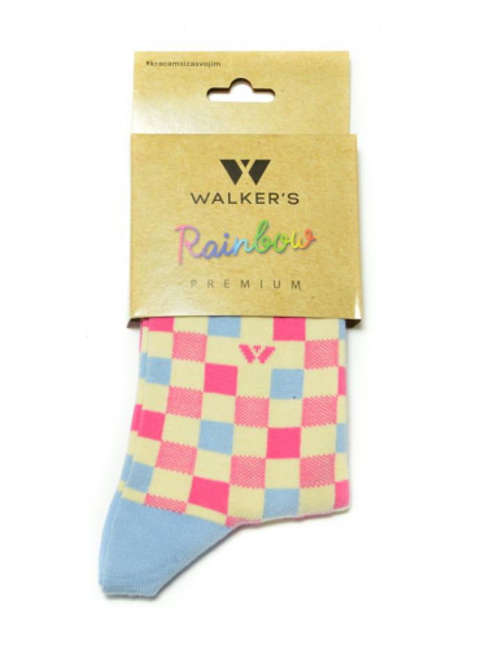 Ponožky Walker's Retro ružovo-biele