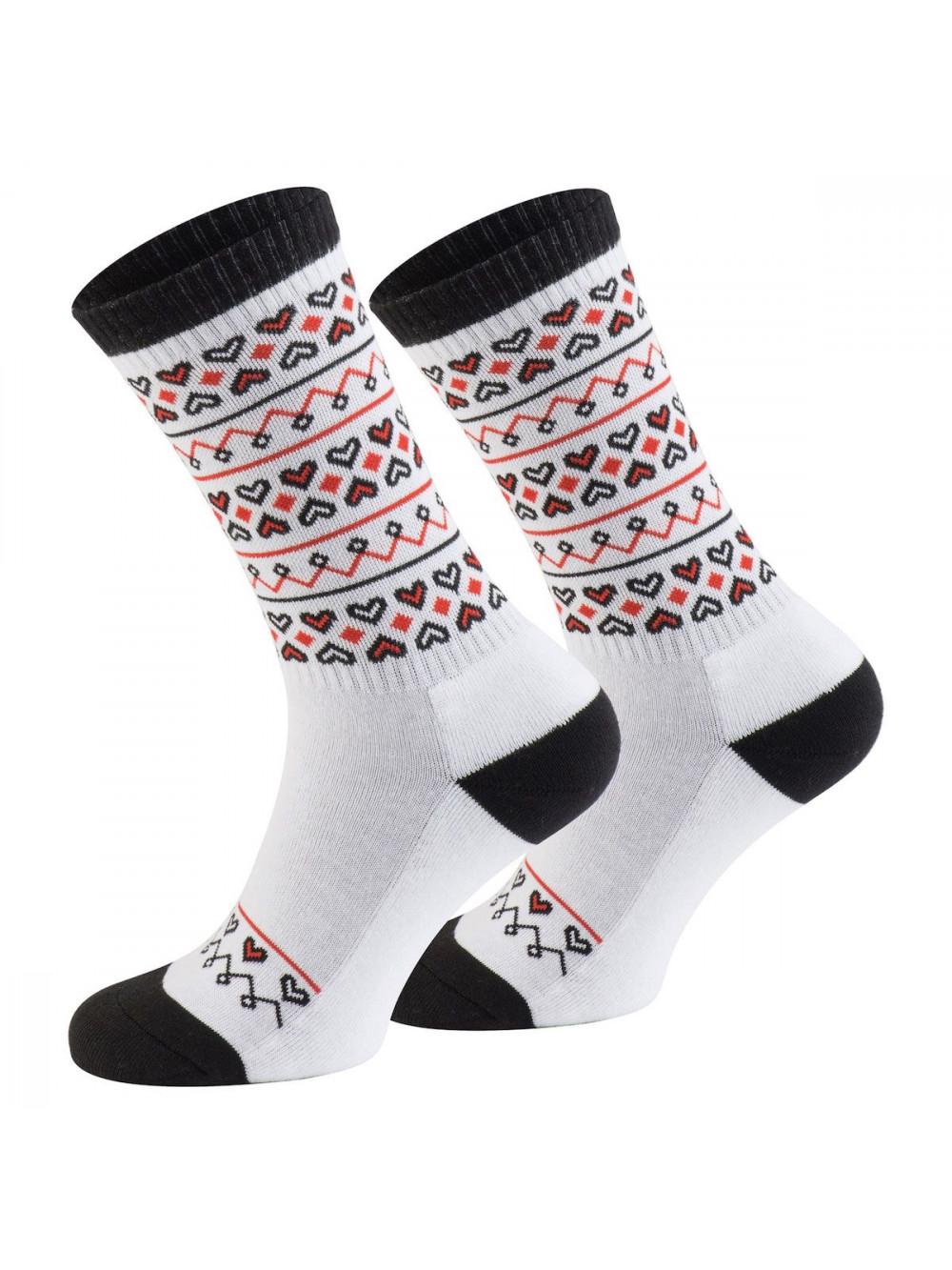 Ponožky Walker's Folk bielo- červené