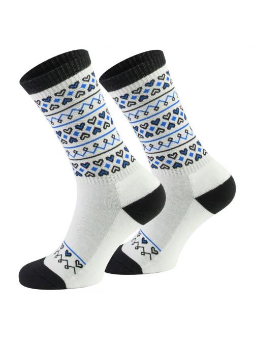 Ponožky Walker's Folk bielo- modré