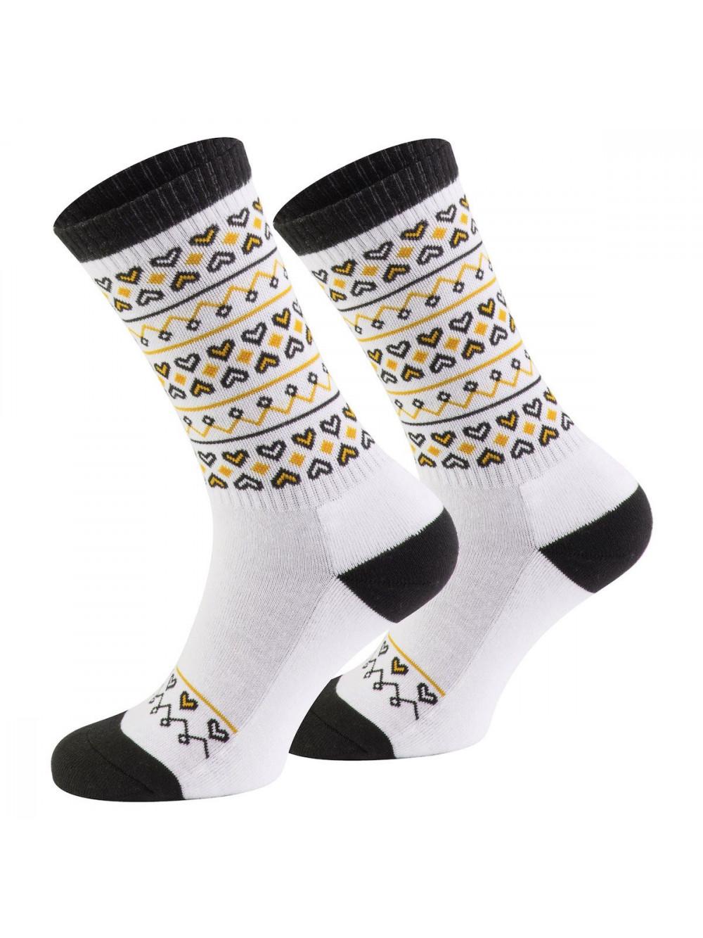 Ponožky Walker's Folk bielo- žlté