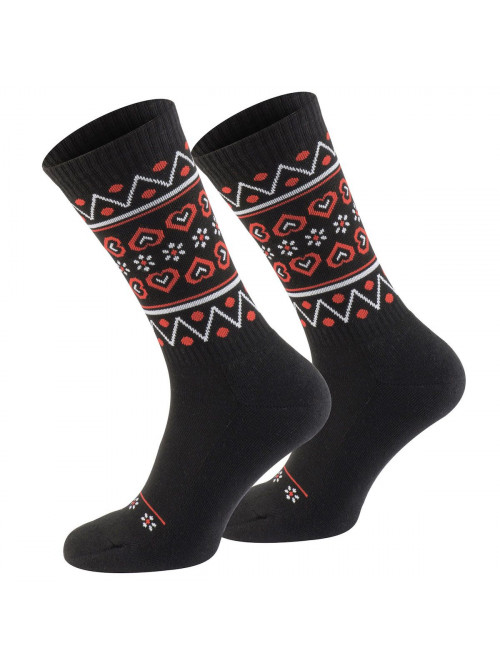 Ponožky Walker's Folk čierno-červené