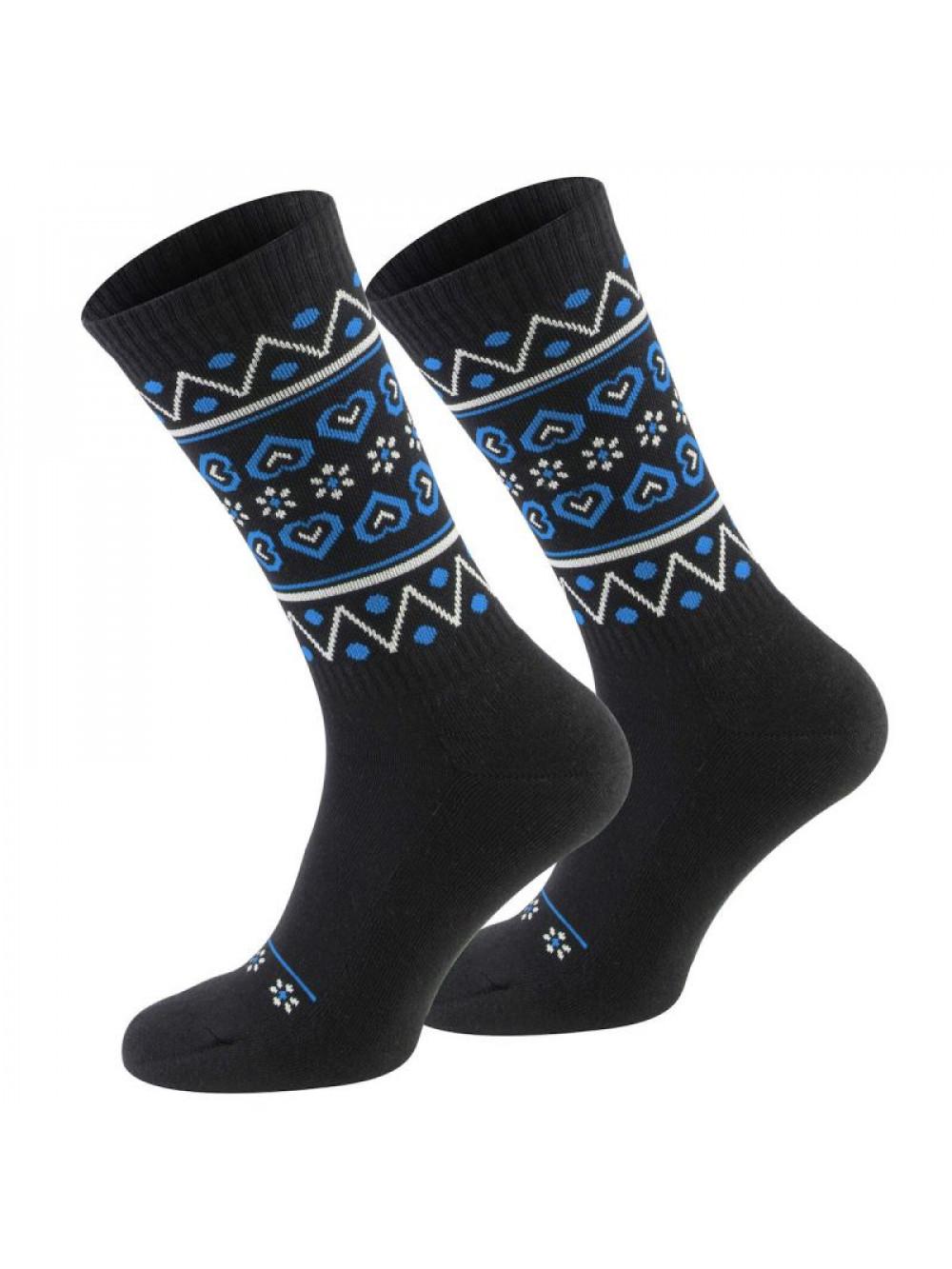 Ponožky Walker's Folk čierno-modré