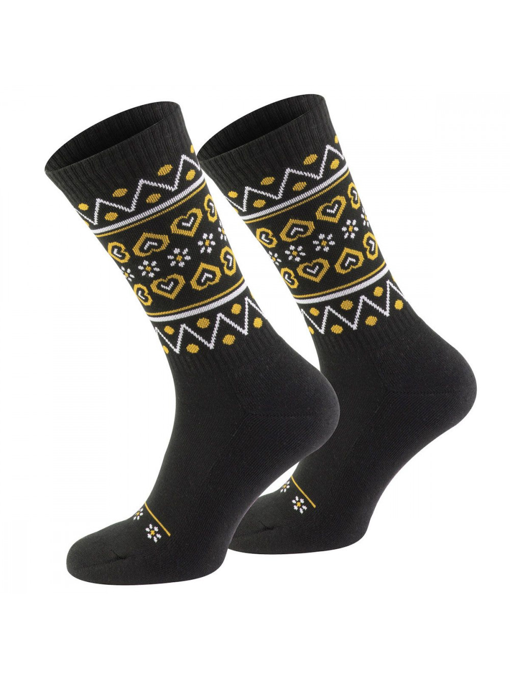 Ponožky Walker's Folk čierno-žlté