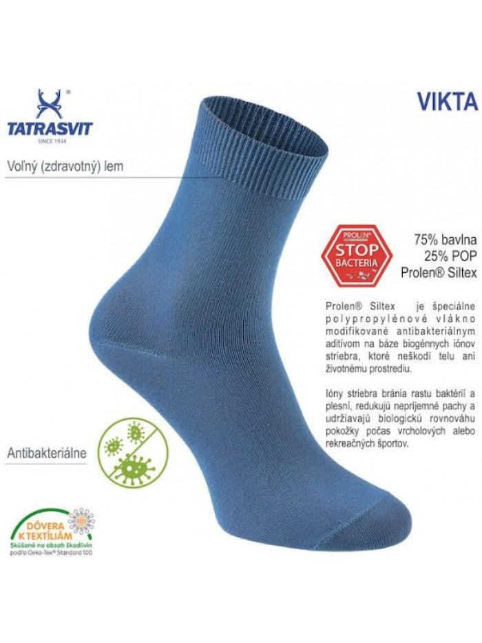 Dámske ponožky Tatrasvit Vikta so striebrom modré