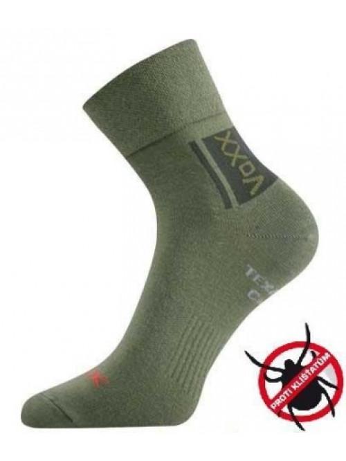 Ponožky VoXX Optifan proti kliešťom zelené