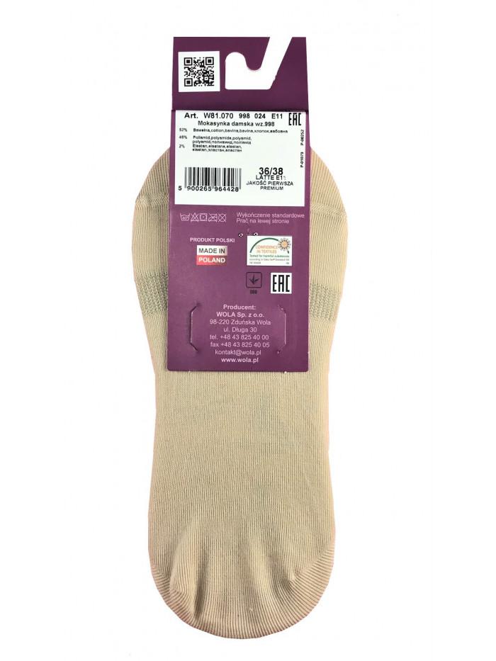 Ponožky Wola mokasíny béžové