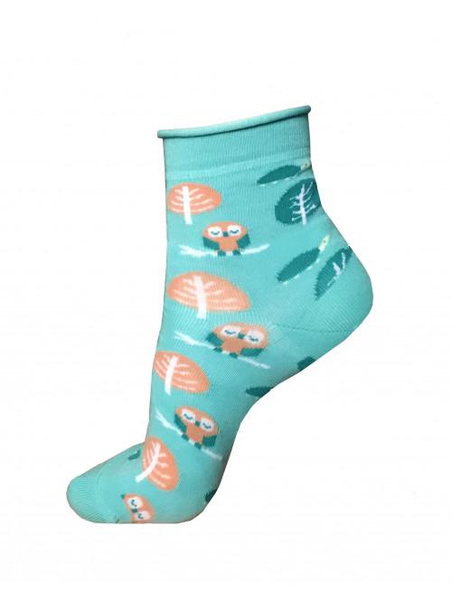 Ponožky Wola Owl Tyrkys