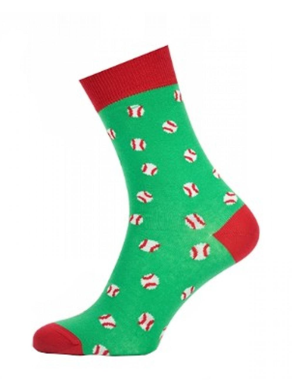Ponožky Baseball Green Wola