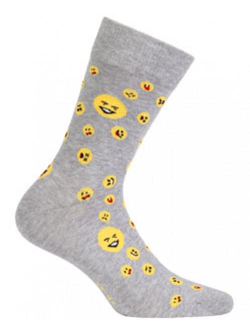 Ponožky Wola Emodži sivé