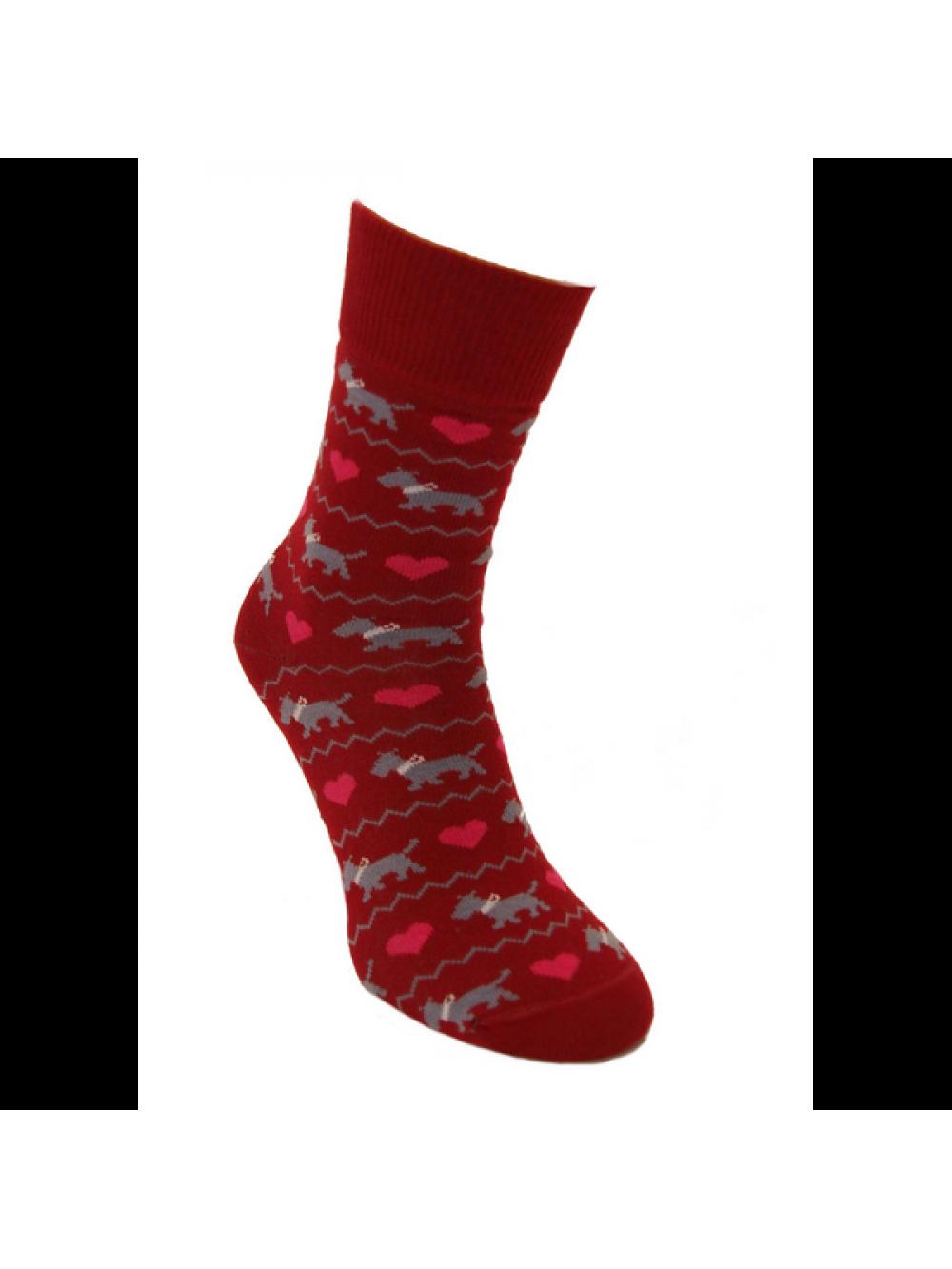 Ponožky Zaľúbené Psíčky Červené Foxysoxy