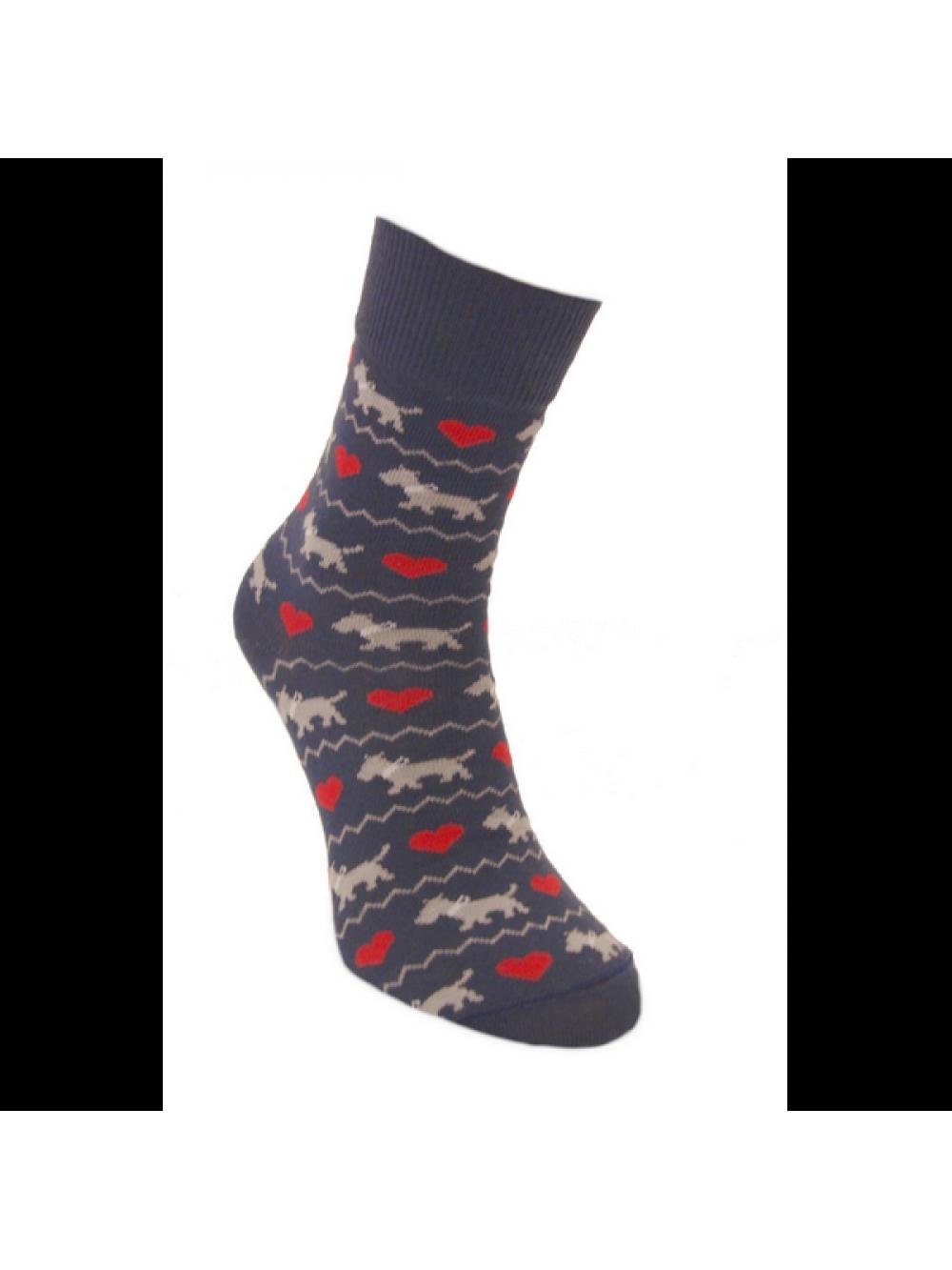 Ponožky Zaľúbené Psíčky Foxysoxy Modrá