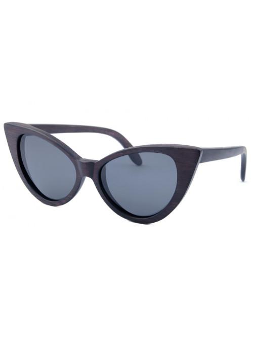 Drevené slnečné okuliare Black Cat Eyes
