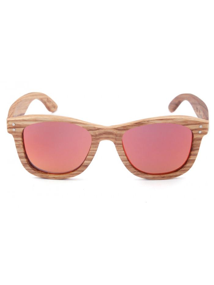 Drevené slnečné okuliare Simple Red