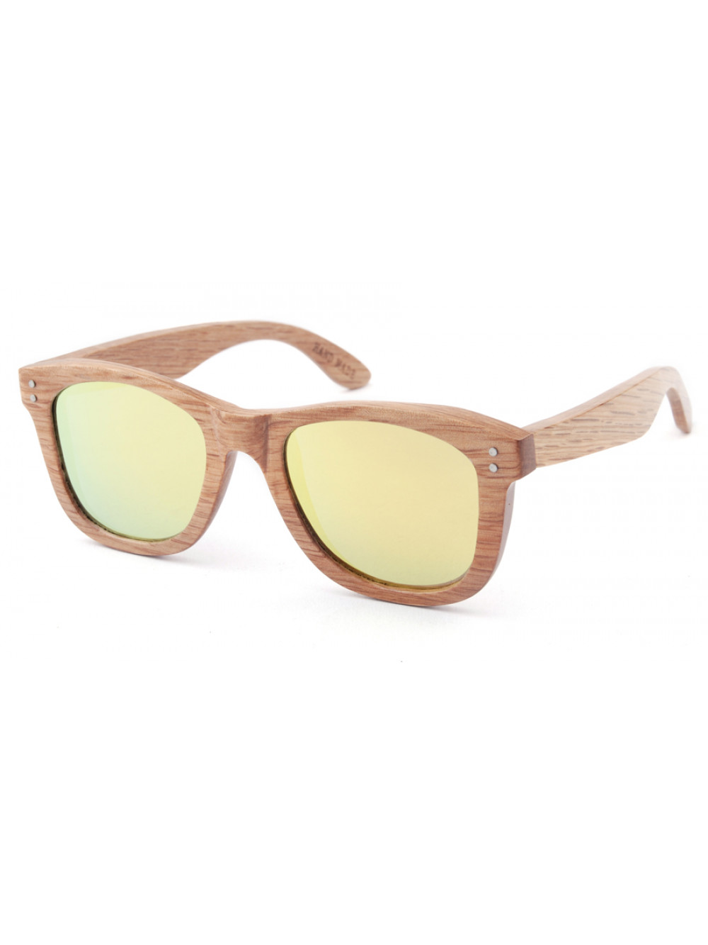 Drevené slnečné okuliare Simple Yellow