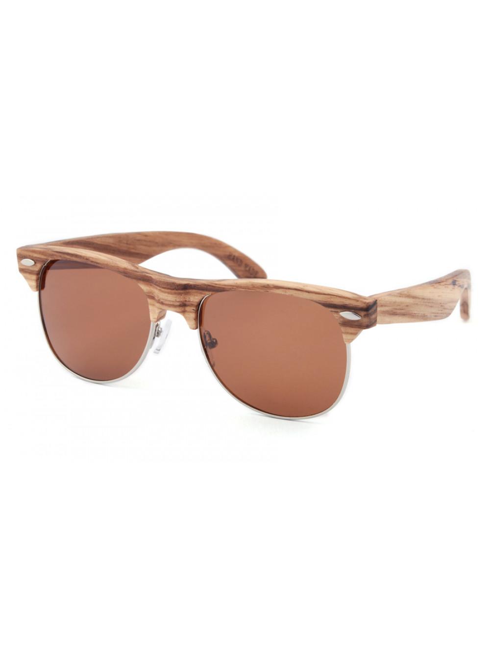 Drevené slnečné okuliare Clubmaster Classic