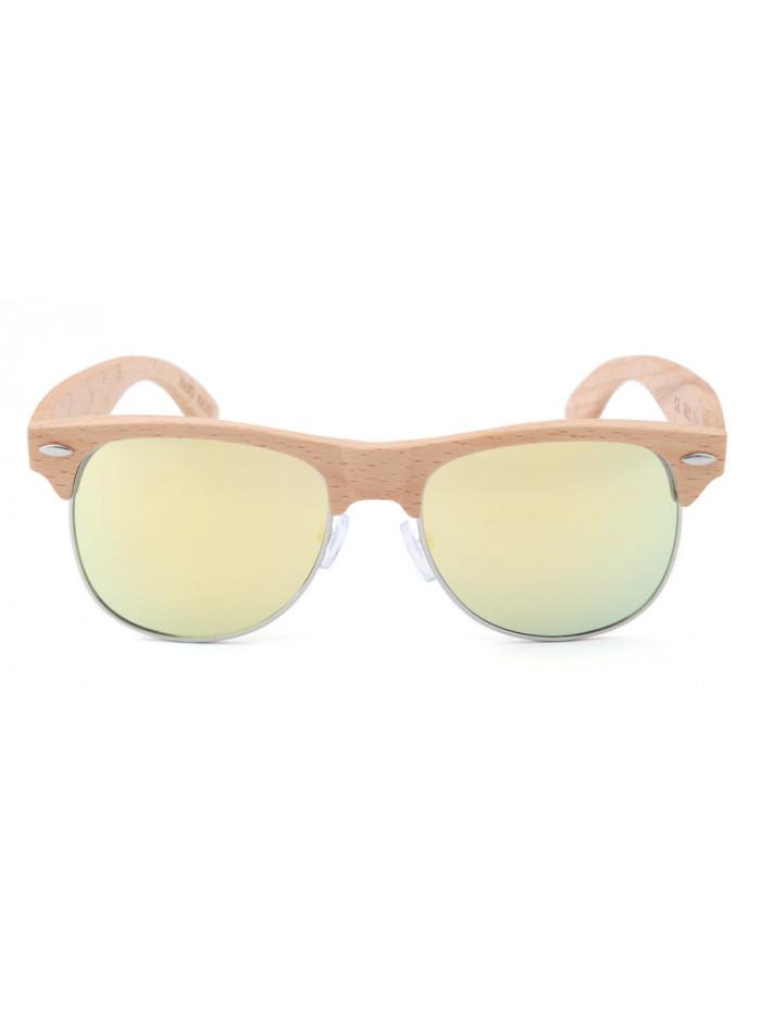 Drevené slnečné okuliare Clubmaster Pineapple