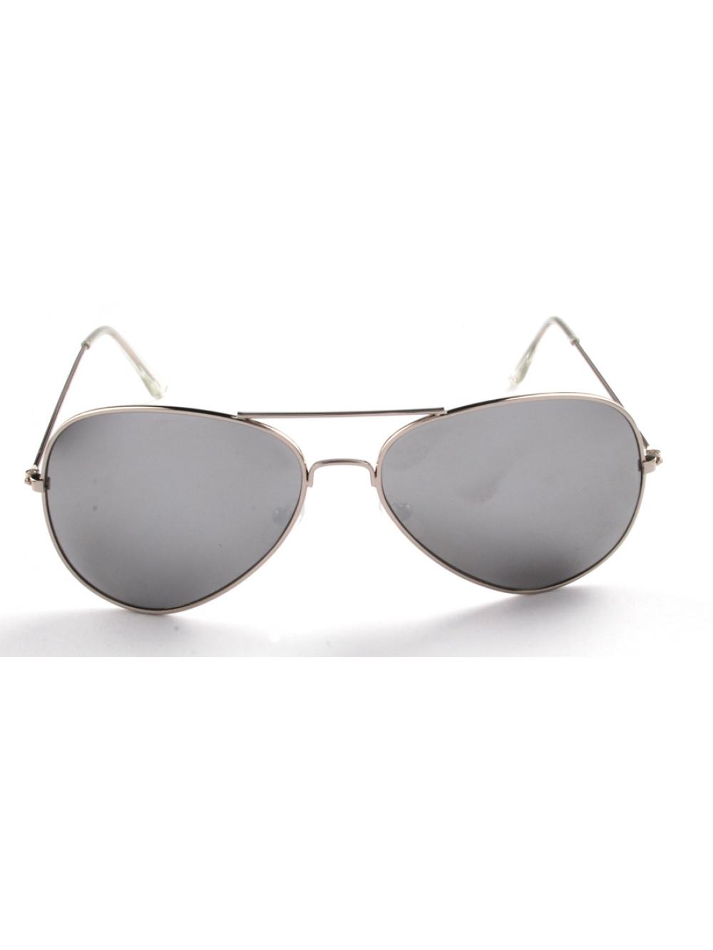 Slnečné okuliare Aviator Pilot Silver polarizačné strieborné 5c06468c6fa