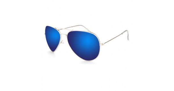 Slnečné okuliare Aviator Pilot Style polarizačné modré 1be00124f6c