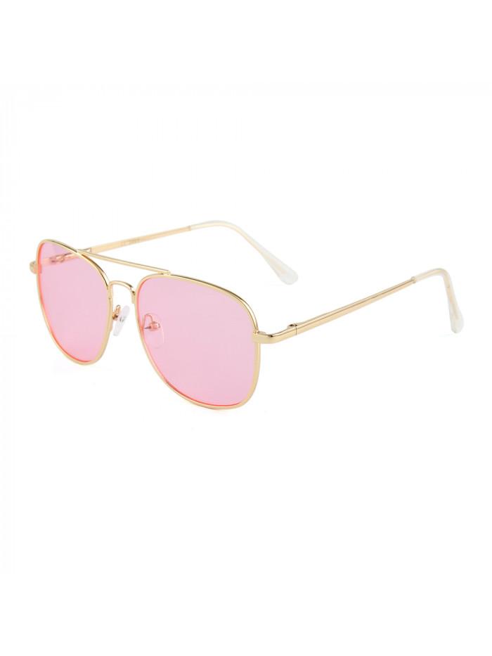 Slnečné okuliare Aviator Square Pink